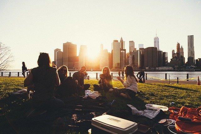piknik ve městě
