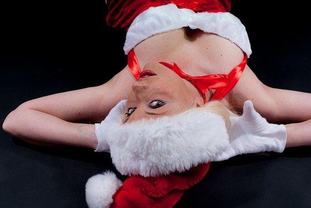ženská jako Santa